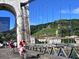 Kulturreisen mit dem Fahrrad – ViaRhôna – Passerelle Marc Seguin © Martin Wein