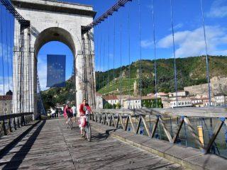 Kulturreisen mit dem Fahrrad: ViaRhôna Passerelle Marc Seguin © Martin Wein
