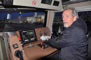 "Zugführer Joe Forsythe lenkt den ""Canadian"" seit vier Jahrzehnten bei jedem Wetter übers Gleis."